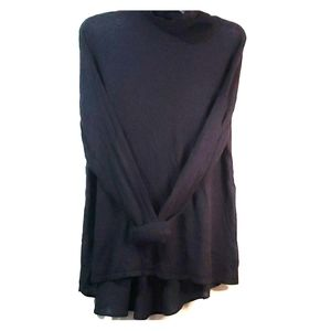 XL stylus Sweater mixed fabric sheer back